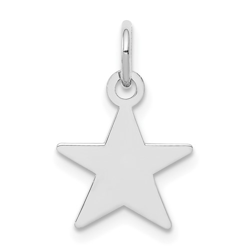 Sterling Silver 3/8in Engravable Star Charm