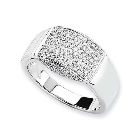 Sterling Silver & CZ Fancy Ring