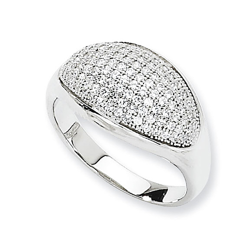 Sterling Silver & CZ Pave Ring