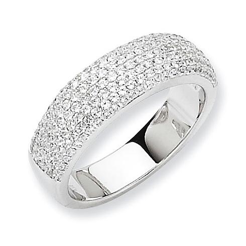Sterling Silver & CZ Fancy Ring
