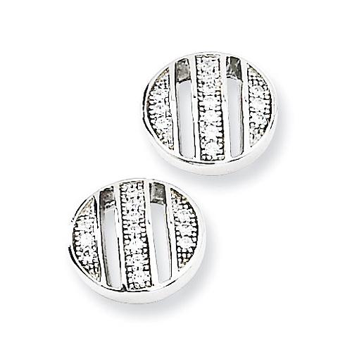Sterling Silver & CZ Post Earrings