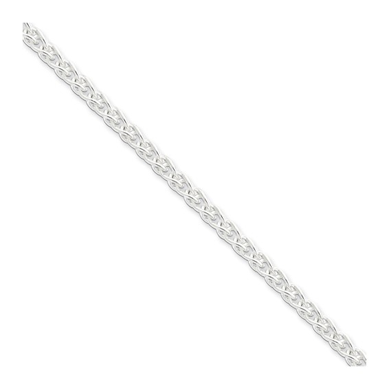 Sterling Silver 18in Spiga Chain 4.25mm