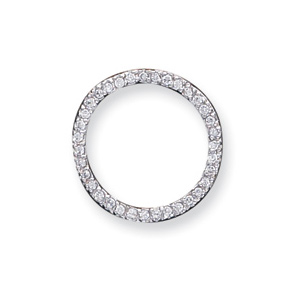 Sterling Silver CZ Round Pendant