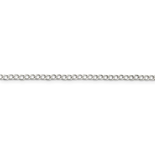 Sterling Silver 24in Italian Curb Link Chain 2.55mm