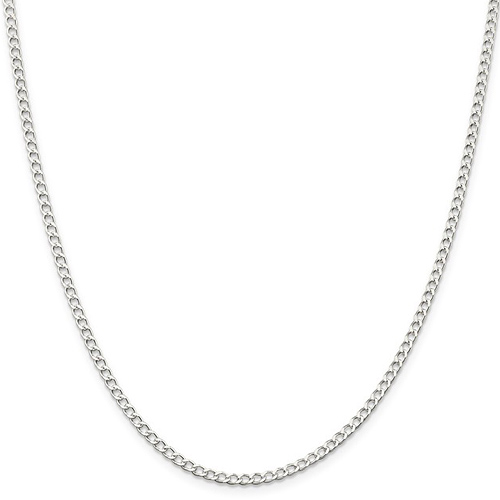 16in Italian Curb Chain 2.80mm - Sterling Silver