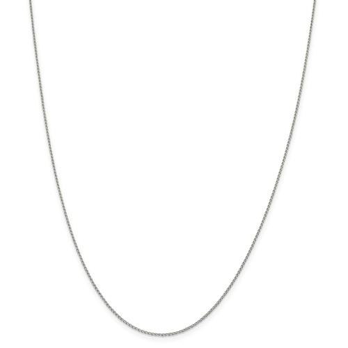Sterling Silver 20in Open Link Curb Chain .5mm