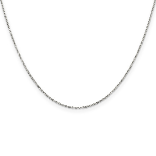Sterling Silver 16in Fancy Cable Chain .5mm