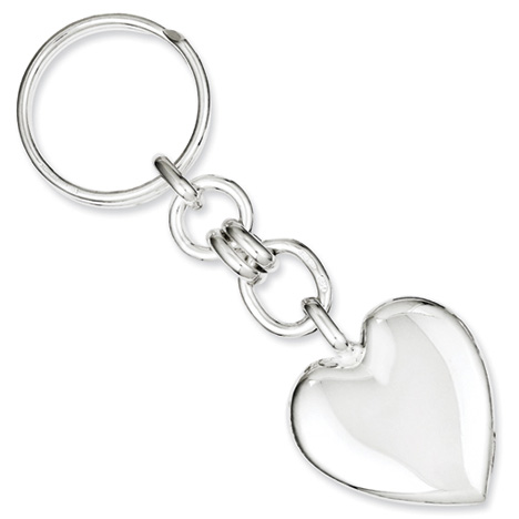 Sterling Silver Heart Key Ring