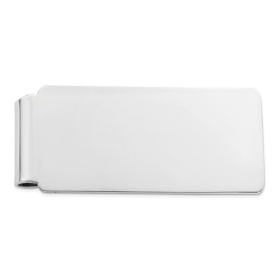 Sterling Silver Money Clip with Rounded Corners