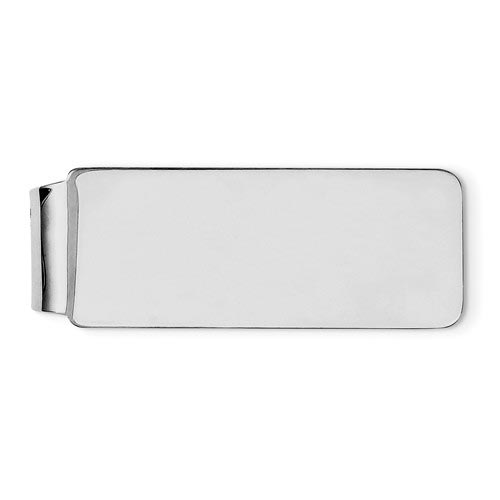 Money Clip with Rounded Corners Sterling Silver