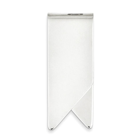 Sterling Silver Italian Notched Money Clip