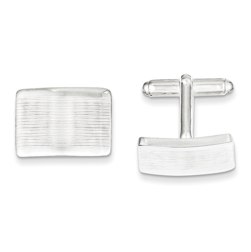 Sterling Silver Cufflinks with Fine Lines