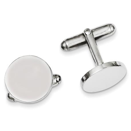 Sterling Silver Italian Round Cufflinks