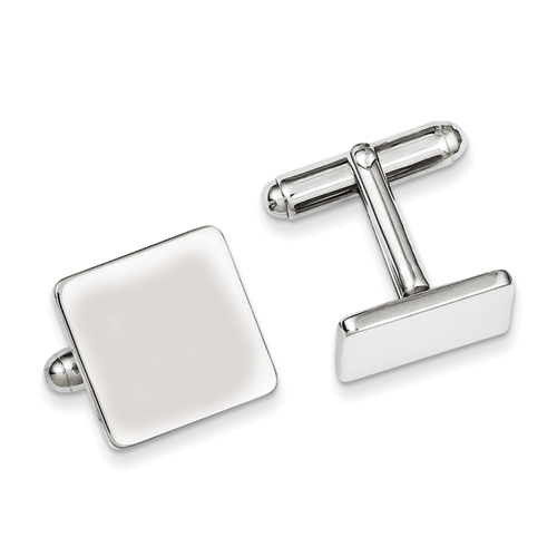 Sterling Silver Polished Square Cufflinks