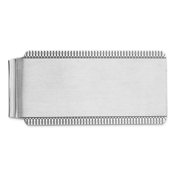 Sterling Silver Money Clip with Fancy Borders