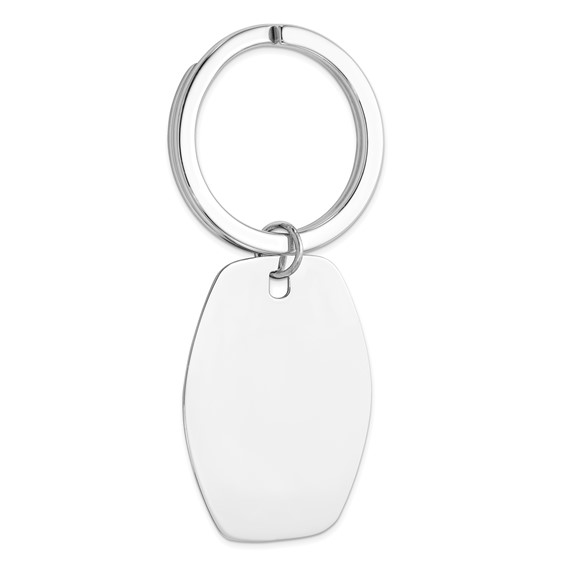 Sterling Silver 2 3/4in Tapered Key Chain
