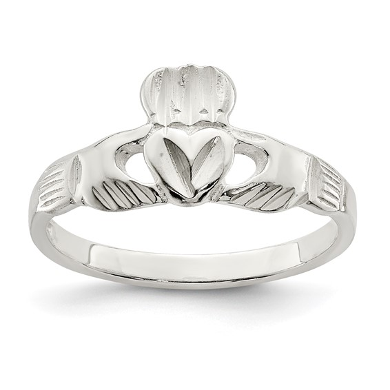 Very Slender Claddagh Ring Sterling Silver