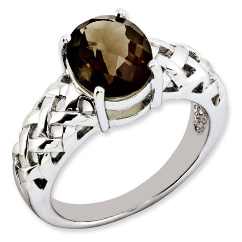2.4 ct Sterling Silver Smokey Quartz Ring