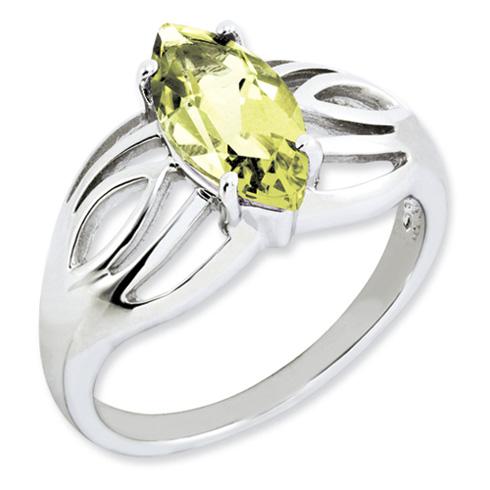 1.6 ct Sterling Silver Lemon Quartz Ring