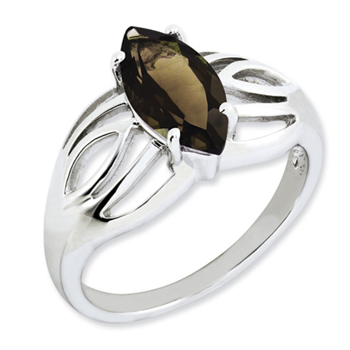 1.6 ct Sterling Silver Smokey Quartz Ring