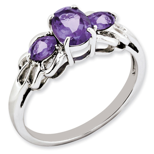 1.59 ct Sterling Silver Amethyst Ring