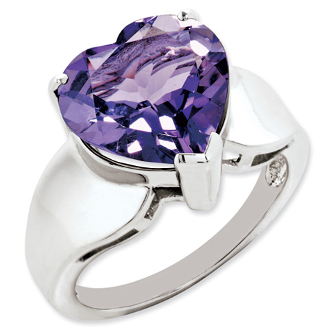 5.25 ct Sterling Silver Amethyst Ring
