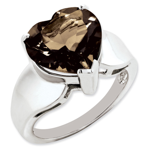 5.25 ct Sterling Silver Smokey Quartz Ring