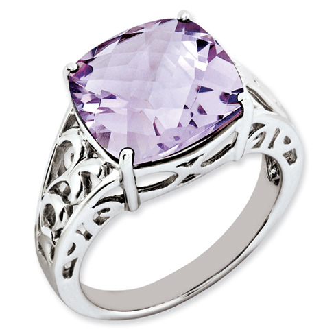 7.4 ct Sterling Silver Pink Quartz Ring