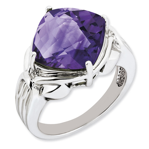 7.2 ct Sterling Silver Amethyst Ring