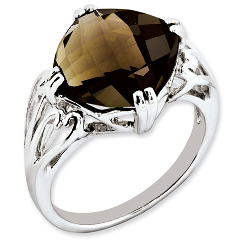 7.4 ct Sterling Silver Smokey Quartz Ring