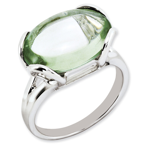 8.5 ct Sterling Silver Green Quartz Ring