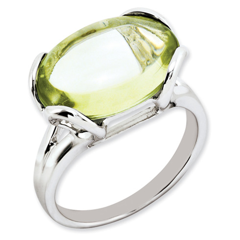 8.5 ct Sterling Silver Lemon Quartz Ring