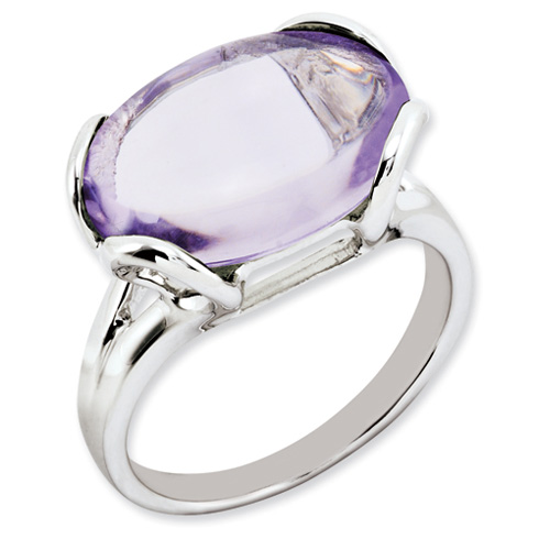 0.8 ct Sterling Silver Pink Quartz Ring