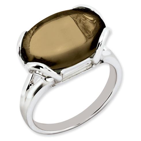 8.5 ct Sterling Silver Smokey Quartz Ring