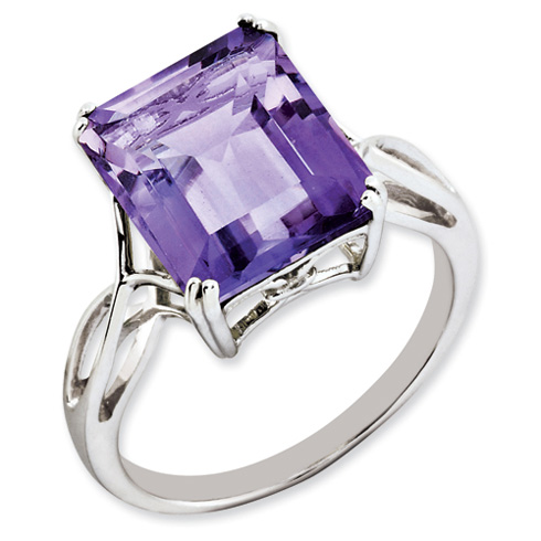 Sterling Silver 5.45 ct Amethyst Ring