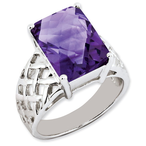 6.75 ct Sterling Silver Amethyst Ring