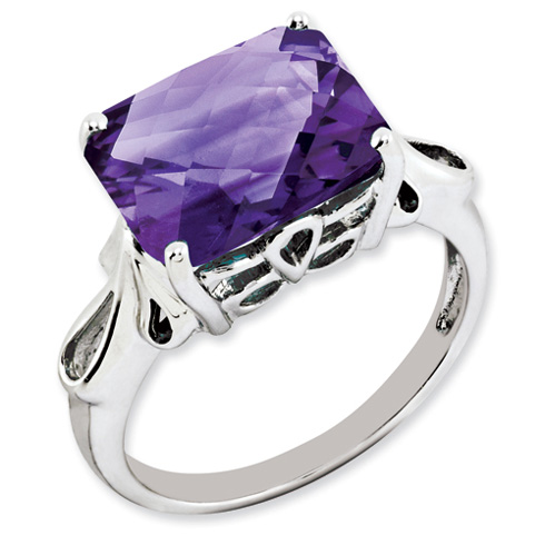 5.6 ct Sterling Silver Amethyst Ring