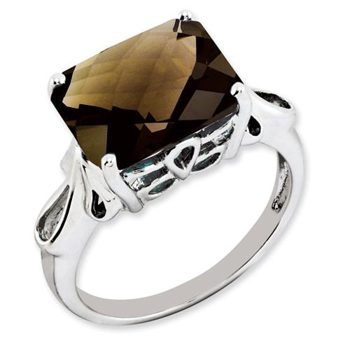 5.45 ct Sterling Silver Smokey Quartz Ring