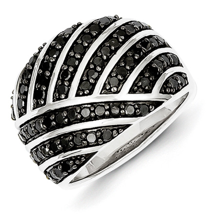 1 Ct Sterling Silver Black Diamond diamond Ring