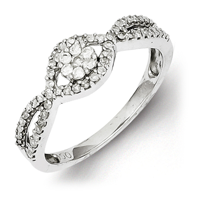 Sterling Silver 3/8ct Diamond Promise Ring