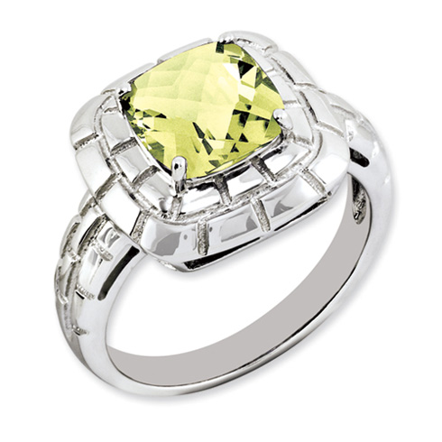 2.25 ct Sterling Silver Lemon Quartz Ring
