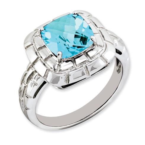 2.7 ct Sterling Silver Light Swiss Blue Topaz Ring