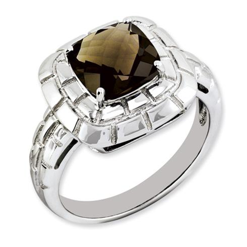 2.25 ct Sterling Silver Smokey Quartz Ring