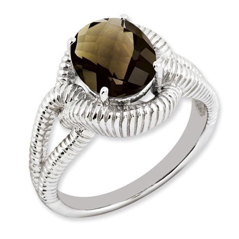 2.45 ct Sterling Silver Smokey Quartz Ring