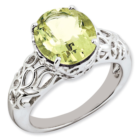 4.5 ct Sterling Silver Lemon Quartz Ring