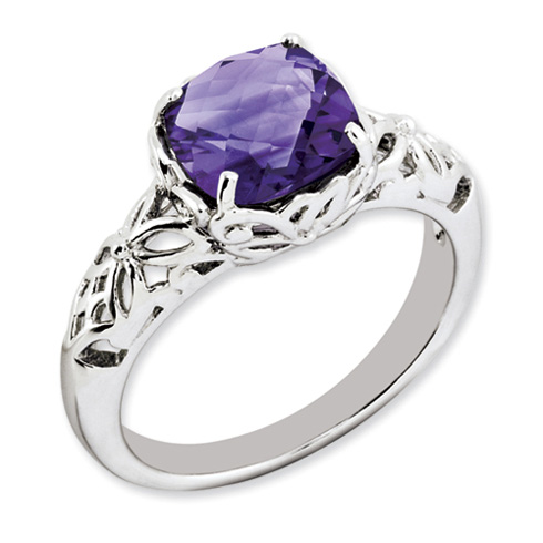 2.15 ct Sterling Silver Amethyst Ring
