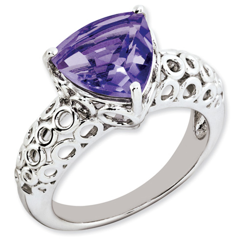 3.02 ct Sterling Silver Amethyst Ring