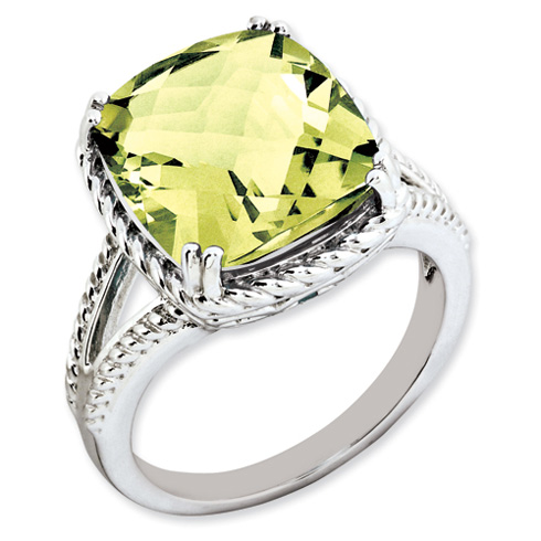 7 ct Sterling Silver Lemon Quartz Ring