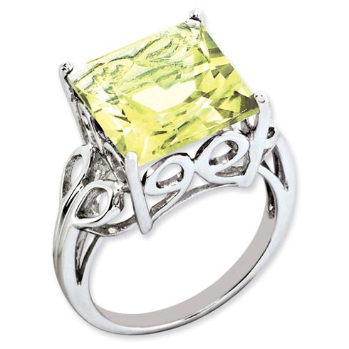 7.85 ct Sterling Silver Lemon Quartz Ring