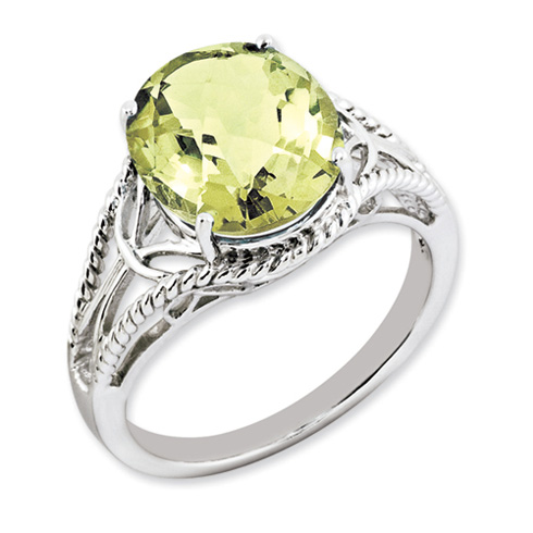 4.55 ct Sterling Silver Lemon Quartz Ring
